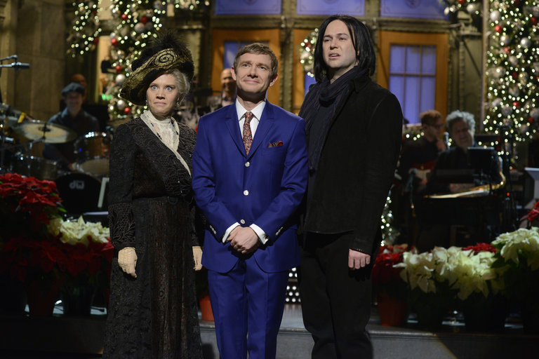 From the Set: Martin Freeman and Charli XCX