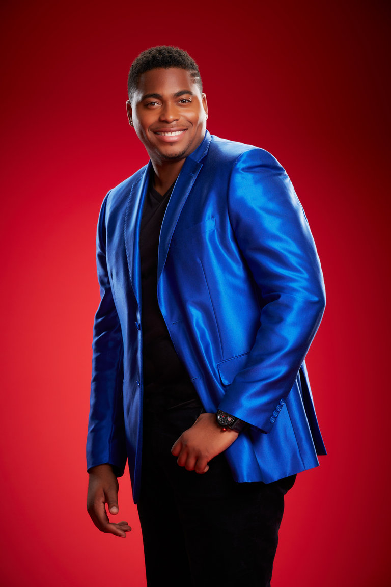 "THE VOICE -- Season: 6 -- Pictured: Trijean Wilkins as ""T.J. Wilkins"" -- (Photo by: Paul Drinkwater/NBC)"