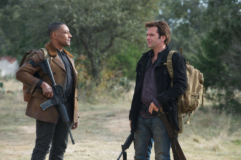 Pictured: (l-r) Giancarlo Esposito as Tom Neville, Billy Burke as Miles Matheson -- (Photo by: Felicia Graham/NBC/NBCU Photo Bank)