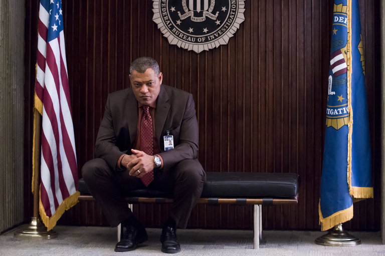 """HANNIBAL -- """"Kaiseki"""" Episode 201 -- Pictured: Laurence Fishburne as Jack Crawford -- (Photo by: Brooke Palmer/NBC/NBCU Photo Bank)"""