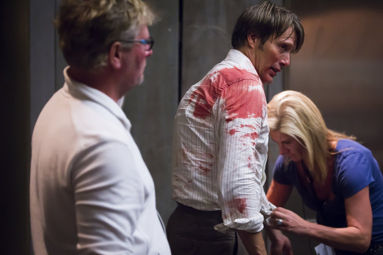 """HANNIBAL -- """"Kaiseki"""" Episode 201 -- Pictured: (l-r)  -- (Photo by: Brooke Palmer/NBC)"""