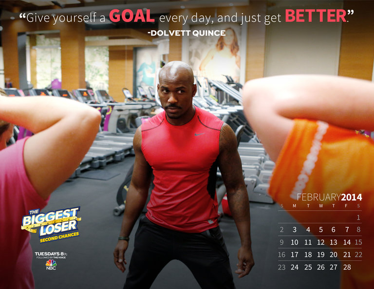 The Biggest Loser February 2014 Calendar
