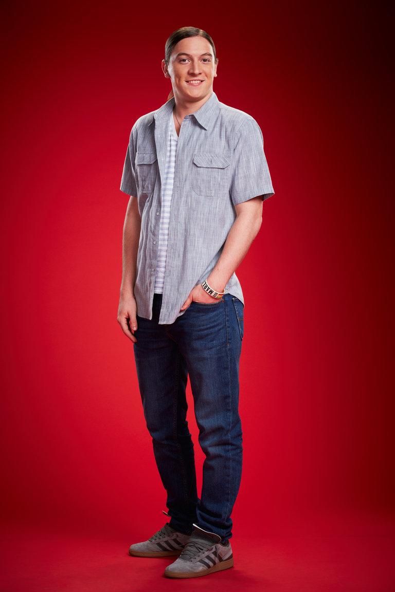"THE VOICE -- Season: 6 -- Pictured: Steven Rosenbalm as ""Stevie Joe"" -- (Photo by: Paul Drinkwater/NBC).(FSR:AA)"