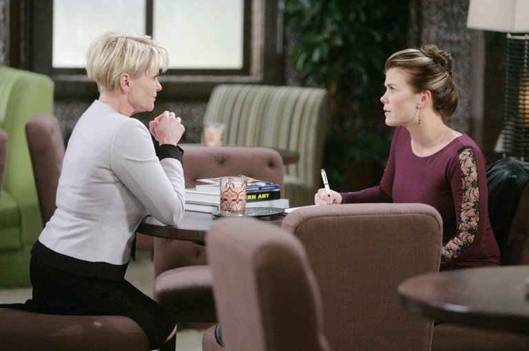 Sami and Adrienne spar over Will and Sonny's wedding plans.