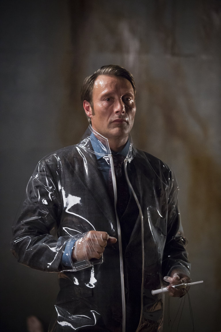 "HANNIBAL -- ""Sakizuki"" Episode 202 -- Pictured: Mads Mikkelsen as Hannibal Lecter   -- (Photo by: Brooke Palmer/NBC)"