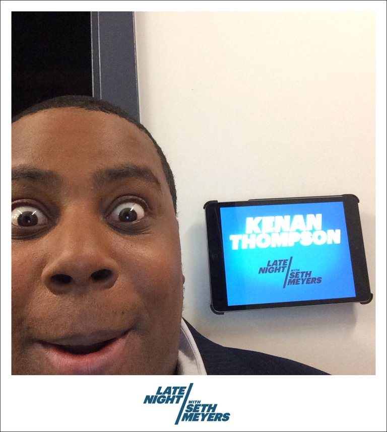 Kenan Thompson Late Night with Seth Meyers Backstage Photo