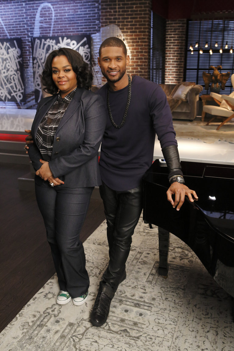 """THE VOICE -- """"Team Usher Battle Reality"""" -- Pictured: (l-r) Jill Scott, Usher -- (Photo by: Trae Patton/NBC)"""