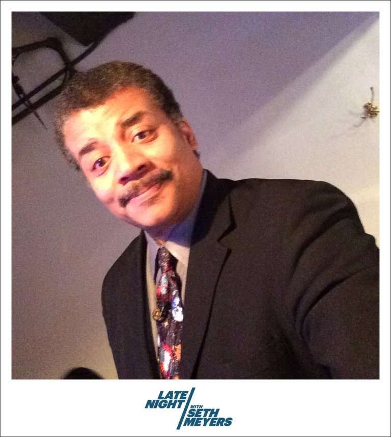 Neil deGrasse Tyson Backstage Photo Late Night with Seth Meyers