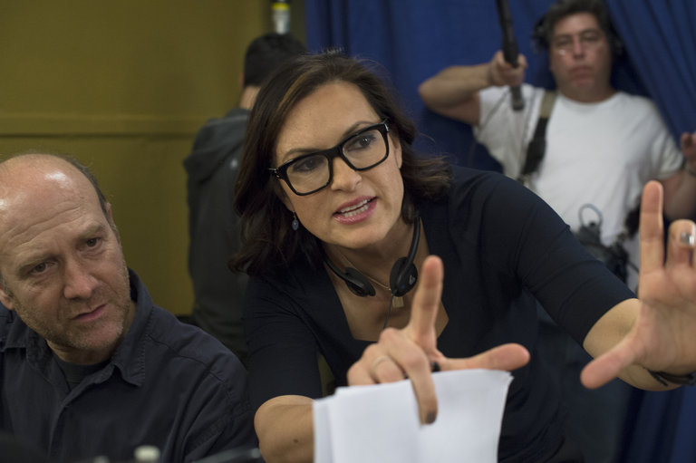 """LAW & ORDER: SPECIAL VICTIMS UNIT -- """"Criminal Stories"""" Episode 1518 -- Pictured: Mariska Hargitay -- (Photo by: Michael Parmelee/NBC)"""