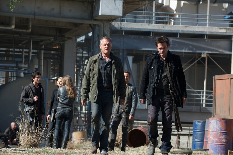 Pictured: Stephen Collins as Dr. Gene Porter, Billy Burke as Miles Matheson -- (Photo by: Felicia Graham/NBC)