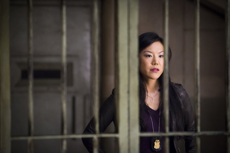 """HANNIBAL -- """"Takiawase"""" Episode 204 -- Pictured: Hettienne Park as Beverly Katz -- (Photo by: Brooke Palmer/NBC)"""