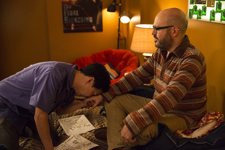 "COMMUNITY -- ""Advanced Advanced Dungeons & Dragons"" Episode 510 -- Pictured: (l-r) Ken Jeong as Señor Chang, David Cross as Hank Hickey -- (Photo by: Justin Lubin/NBC)"
