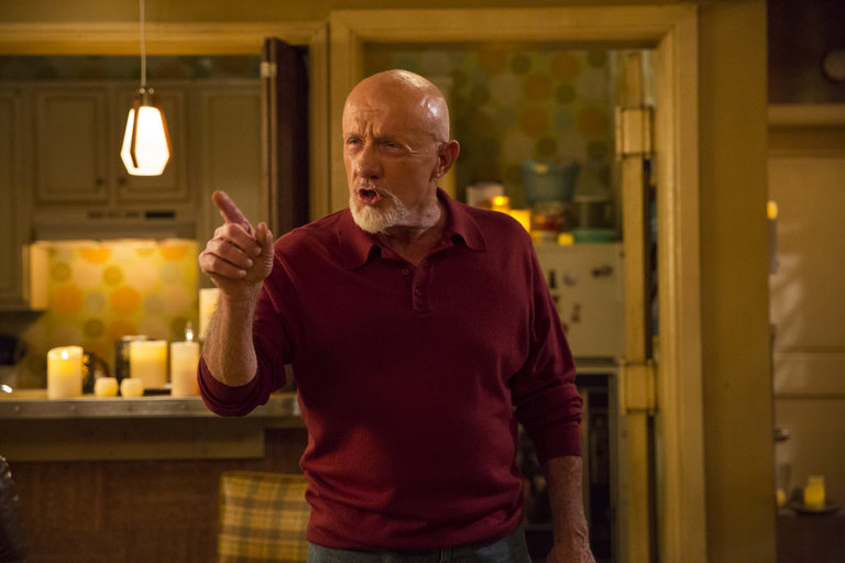 "COMMUNITY -- ""Advanced Advanced Dungeons & Dragons"" Episode 510 -- Pictured: Jonathan Banks as Professir Buzz Hickey -- (Photo by: Justin Lubin/NBC)"