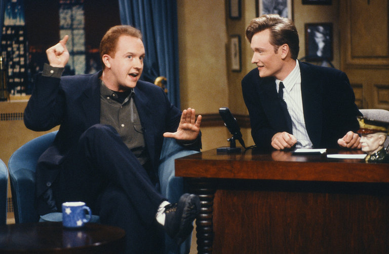 "Louis began performing stand-up comedy in 1984, but his big writing break came in 1993 when he was hired as a writer for ""Late Night with Conan O'Brien."""