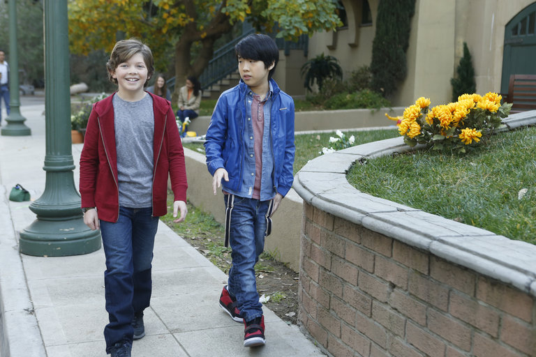 Pictured: (l-r) Eli Baker as Henry, Lance Lim as Runyen -- (Photo by: Jordin Althaus/NBC)