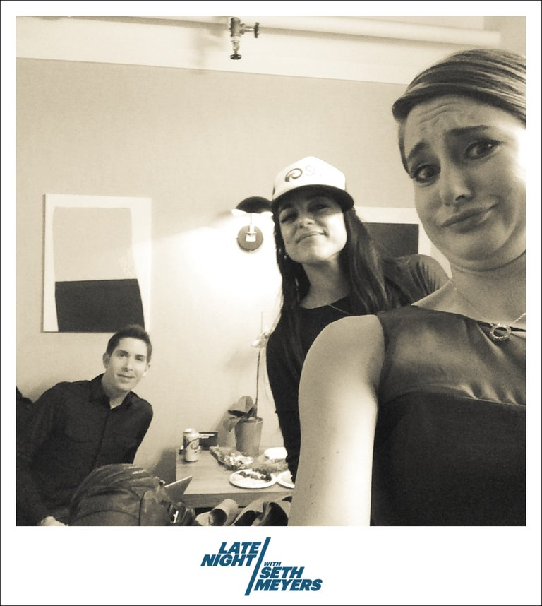Shailene Woodley Backstage Photo Late Night with Seth Meyers