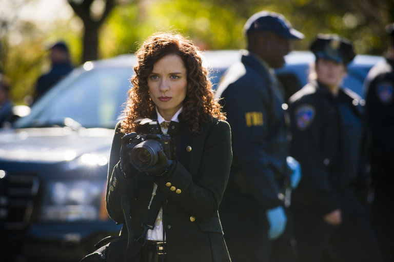 "HANNIBAL -- ""Mukozuke"" Episode 205 -- Pictured:  Lara Jean Chorostecki as Freddie Lounds -- (Photo by: Brooke Palmer/NBC)"