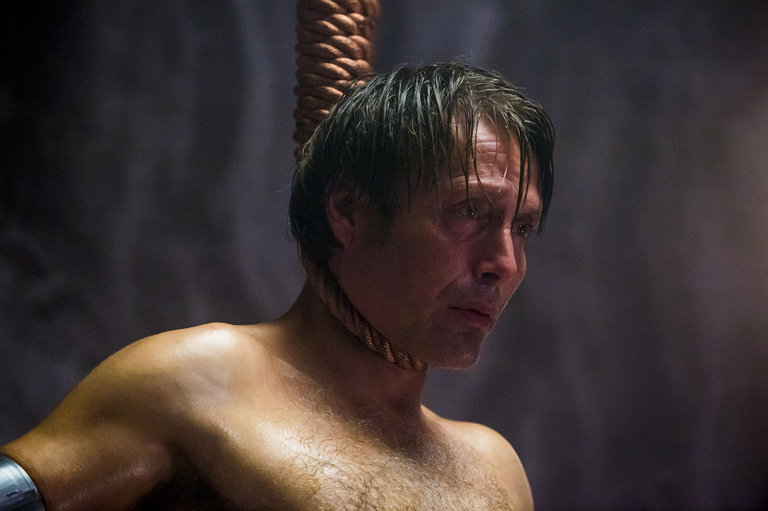 "HANNIBAL -- ""Mukozuke"" Episode 205 -- Pictured: Mads Mikkelsen as Hannibal Lecter -- (Photo by: Brooke Palmer/NBC)"