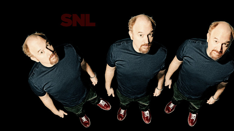Louis C.K. hosts Saturday Night Live with musical guest Sam Smith on March 29, 2014.