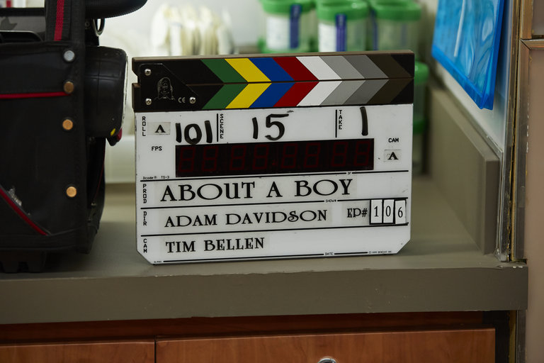 "ABOUT A BOY -- ""About a Buble"" Episode 106 -- Pictured: -- (Photo by: Ben Cohen/NBC)"
