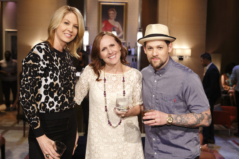 HOLLYWOOD GAME NIGHT -- Episode 206 -- Pictured: (l-r) Jenna Elfman, Molly Shannon, Joel Madden -- (Photo by: Trae Patton/NBC)