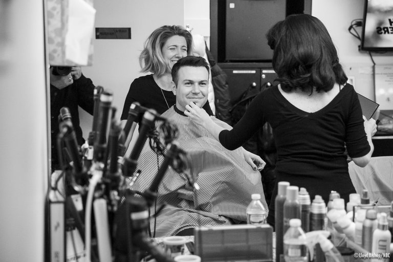 Taran Killam Backstage Photo Late Night with Seth Meyers