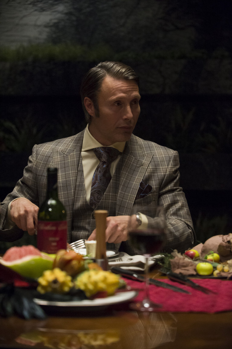 "HANNIBAL -- ""Futamono"" Episode 206 -- Pictured: Mads Mikkelsen as Hannibal Lecter -- (Photo by: Brooke Palmer/NBC)"