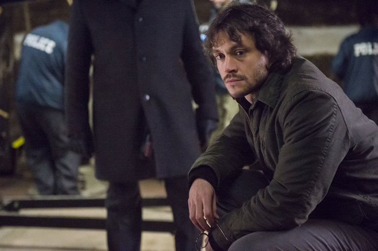 "HANNIBAL -- ""Yakimono"" Episode 207 -- Pictured: Hugh Dancy as Will Graham -- (Photo by: Brooke Palmer/NBC)"