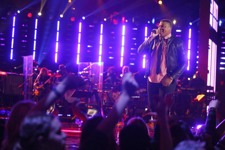 "THE VOICE -- ""Playoffs"" -- Pictured: T.J. Wilkins  -- (Photo by: Trae Patton/NBC)"