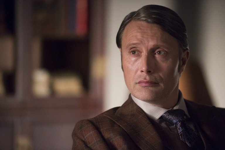 """HANNIBAL -- """"Su-zakana"""" Episode 208 -- Pictured: Mads Mikkelsen as Hannibal Lecter -- (Photo by: Brooke Palmer/NBC)"""