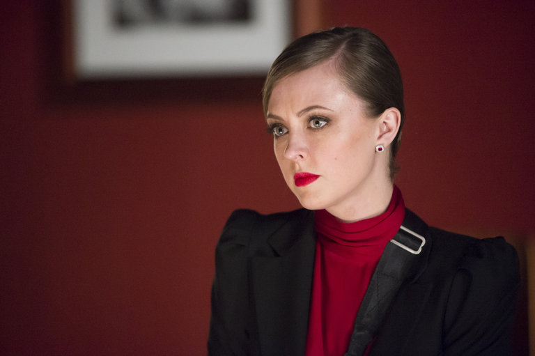 "HANNIBAL -- ""Su-zakana"" Episode 208 -- Pictured: Katharine Isabelle as Margot Verger -- (Photo by: Brooke Palmer/NBC)"