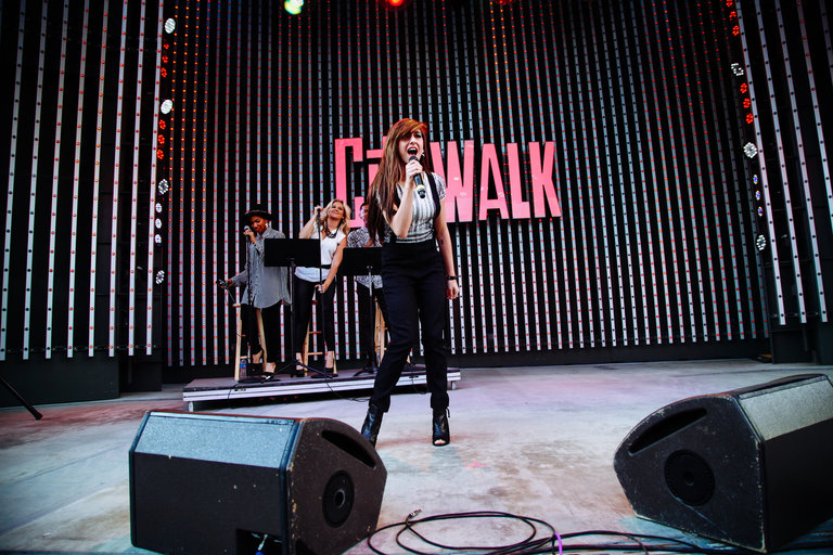"THE VOICE -- Pictured:  Christina Grimmie performs at the top 12 artists of NBC's Emmy award winning hit ""The Voice"" at City Walk in Universal City, CA.  ""The Voice"" live shows continue on Monday, April 21st at 8 p.m. ET -- (Photo by: Ryan Tuttle/NBC)"