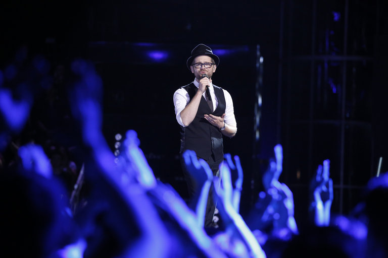 "THE VOICE -- ""Live Show"" -- Pictured: Josh Kaufman -- (Photo by: Trae Patton/NBC)"