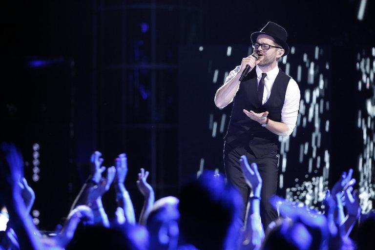 "THE VOICE -- ""Live Show"" -- Pictured: Josh Kaufman -- (Photo by: Trae Patton/NBC)"
