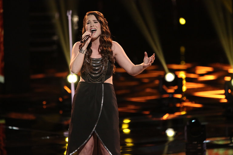 "THE VOICE -- ""Live Show"" -- Pictured: Audra McLaughlin -- (Photo by: Tyler Golden/NBC)"