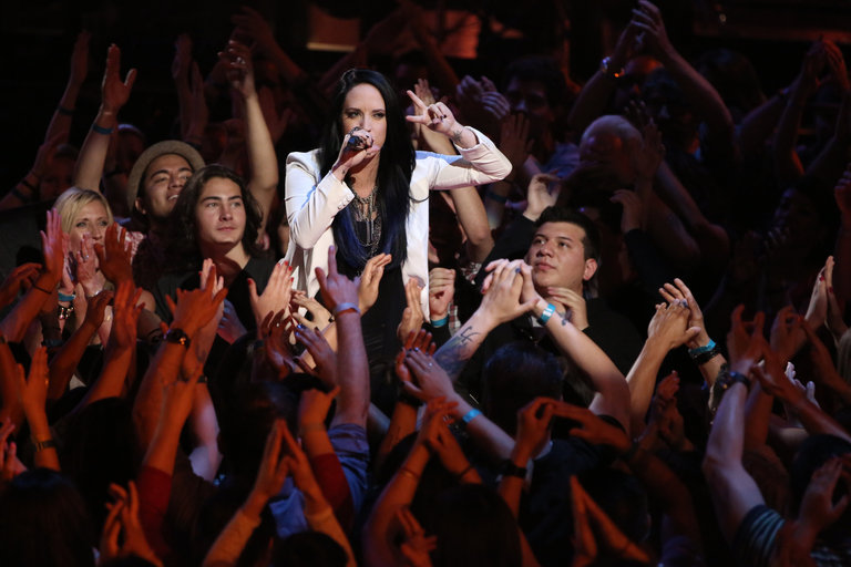 "THE VOICE -- ""Live Show"" -- Pictured: Kat Perkins -- (Photo by: Tyler Golden/NBC)"