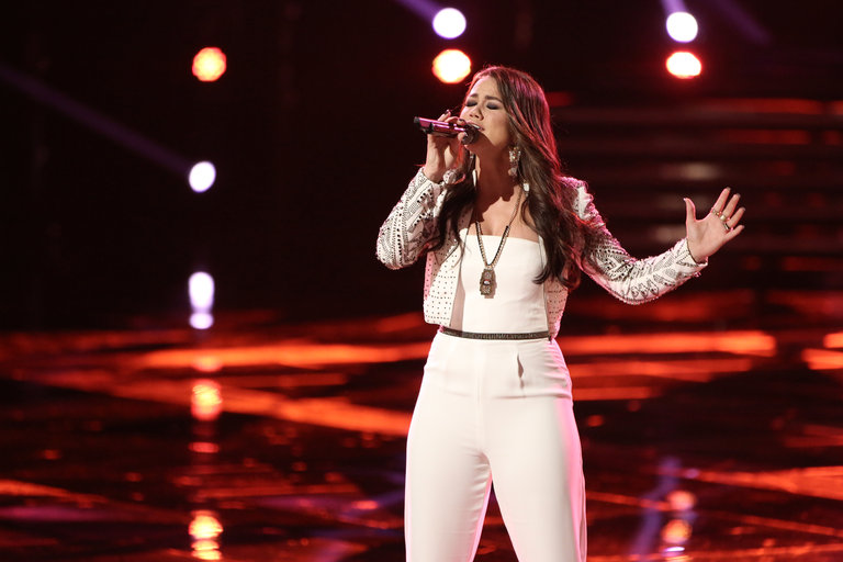 "THE VOICE -- ""Live Show"" -- Pictured: Tess Boyer -- (Photo by: Tyler Golden/NBC)"