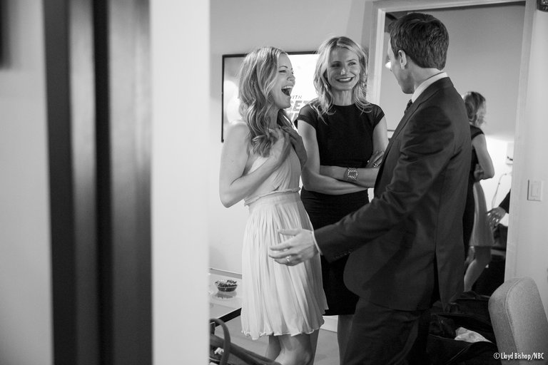 Cameron Diaz and Leslie Mann Late Night with Seth Meyers