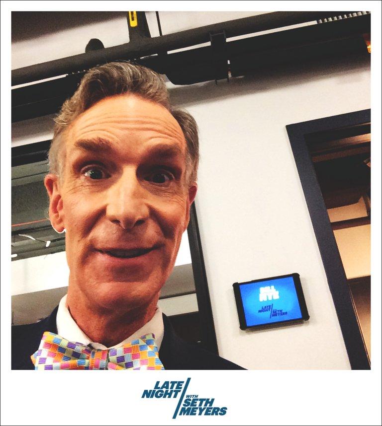 Bill Nye Late Night with Seth Meyers