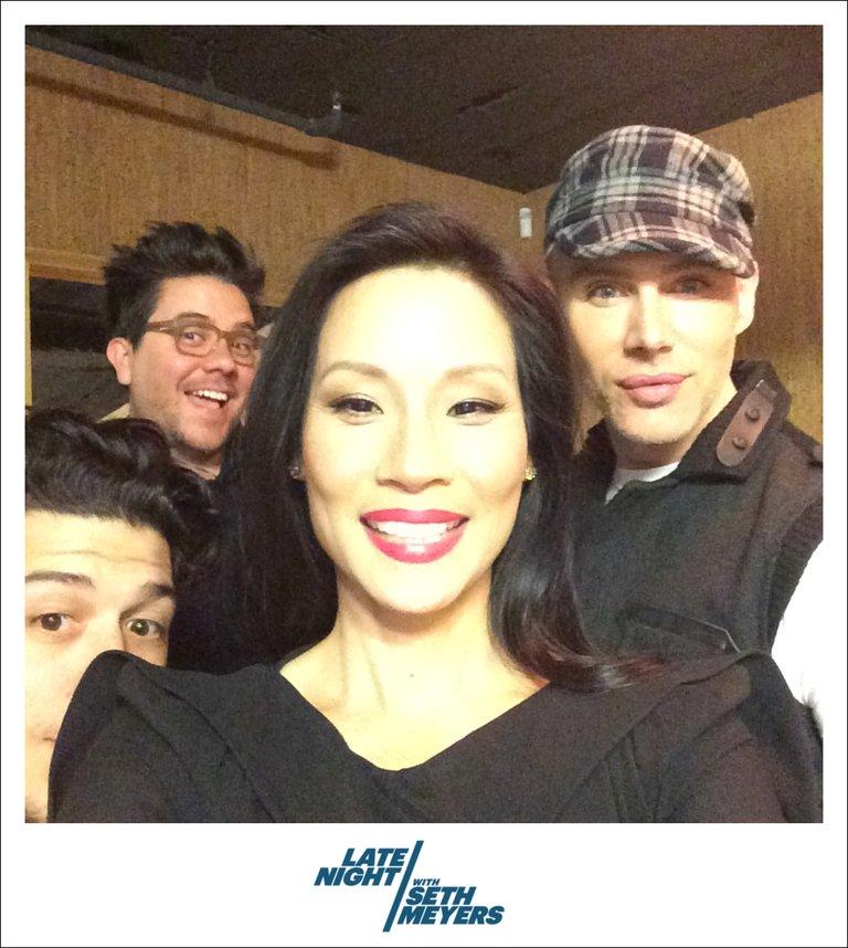 Lucy Liu Late Night with Seth Meyers