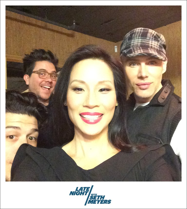 Lucy Liu Late Night with Seth Meyers