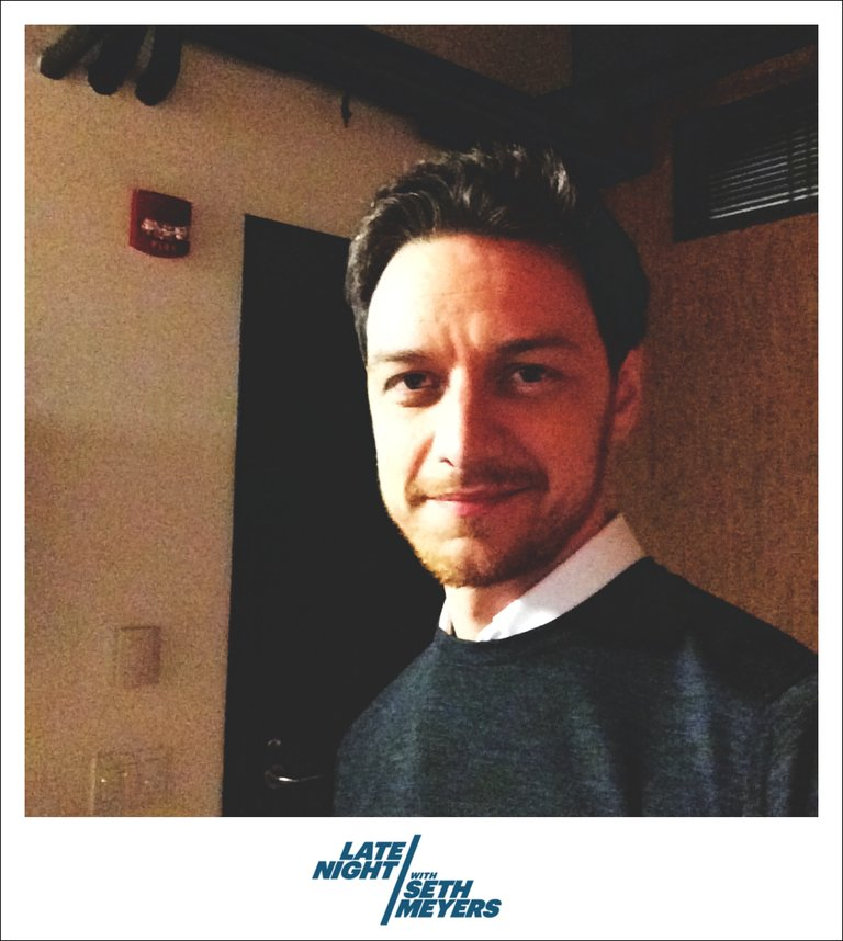 James McAvoy Late Night with Seth Meyers