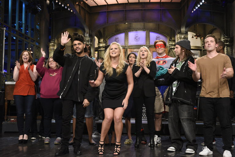 From the Set: Amy Schumer and The Weeknd