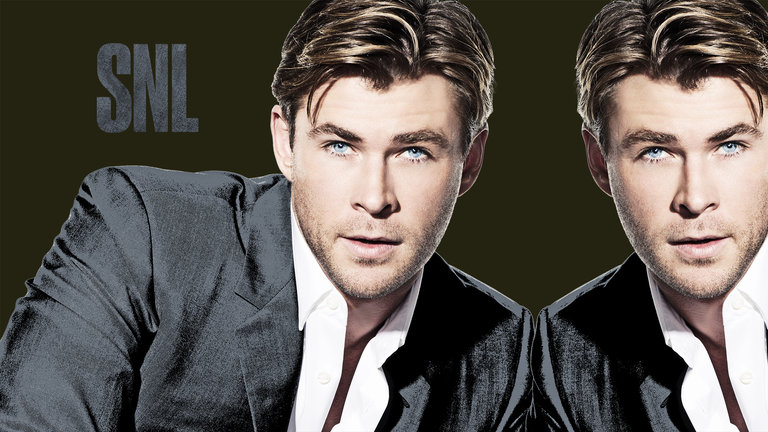 Chris Hemsworth and Chance the Rapper Bumper Photos