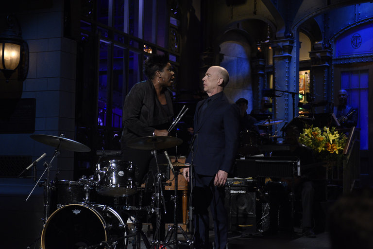 From the Set: J.K. Simmons and D'Angelo
