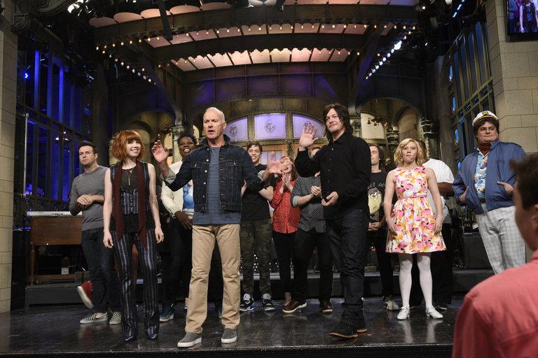 Bumper Photos: Michael Keaton and Carly Rae Jepsen