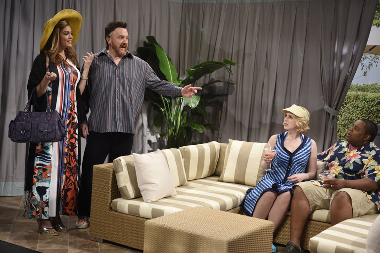 From the Set: Louis C.K. and Rihanna