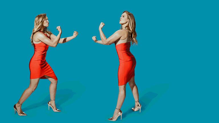 Ronda Rousey and Selena Gomez Bumper Photos