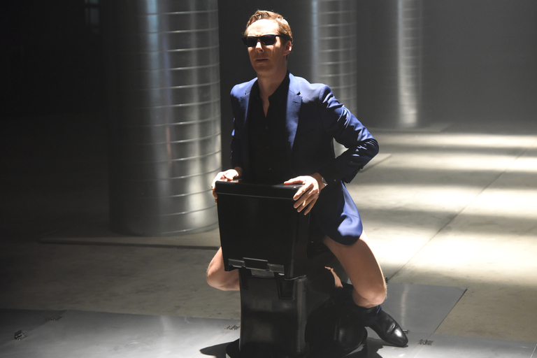 From the Set: Benedict Cumberbatch and Solange