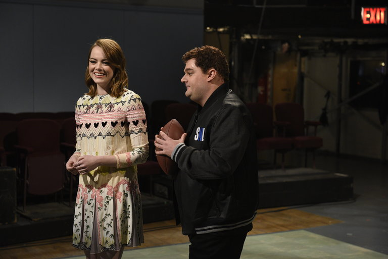 From the Set: Emma Stone and Shawn Mendes
